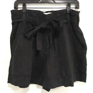 Joie Dayna Paperbag shorts linen black 10